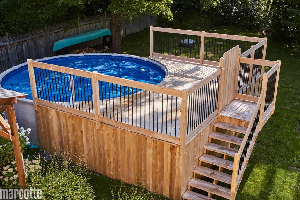 decks et structures de bois am nagements marcotte. Black Bedroom Furniture Sets. Home Design Ideas
